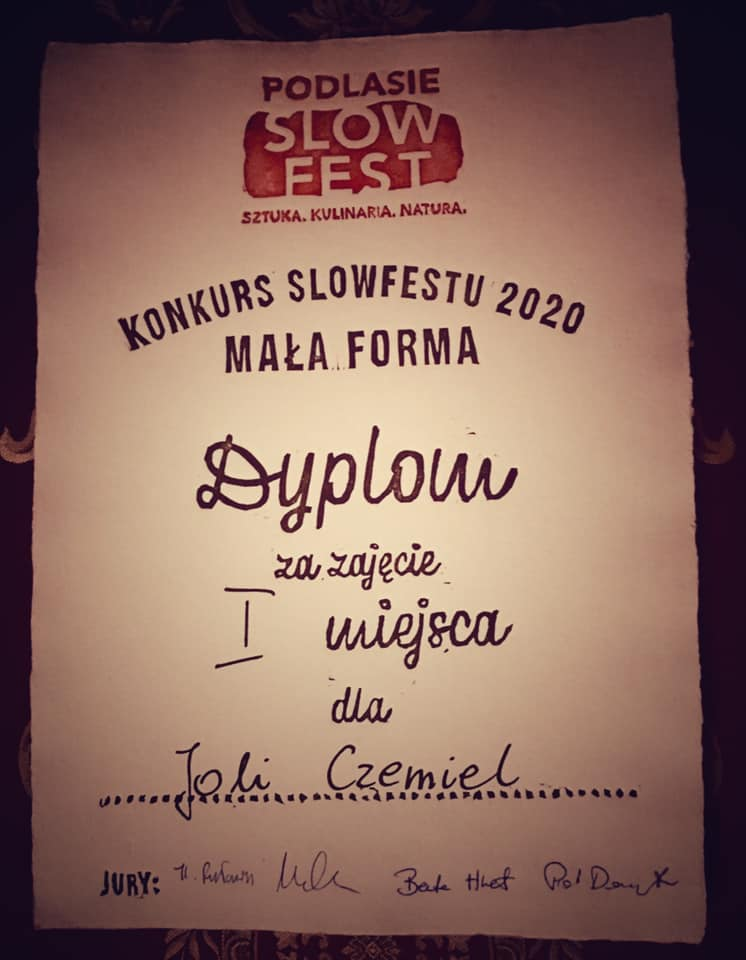 Konkurs SlowFestu Mała Forma 2020